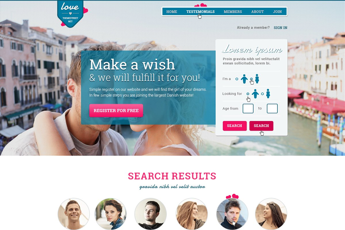6 Dating Website Themes & Templates