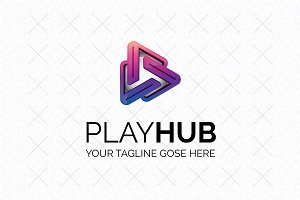 Play Hub Logo Template
