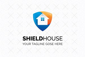Shield House Logo Template