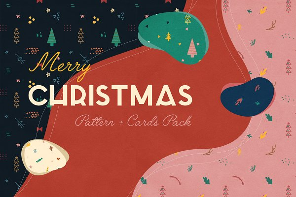 Graphics: BukeShop - Holiday Patterns & Cards Design