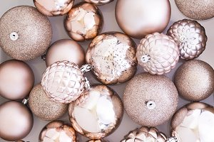 Christmas Baubles Background Photo