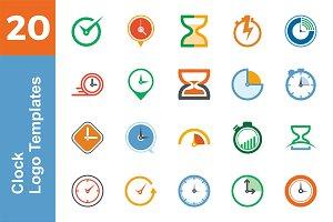 20 Logo Clock Templates Bundle