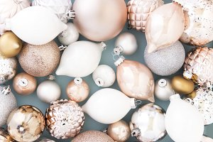 Rose Gold Christmas Baubles
