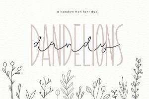 Dandy Dandelions - A Script Font Duo