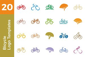 20 Logo Bicycle Templates Bundle