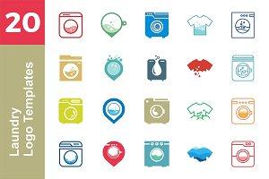 20 Logo Laundry Templates Bundle