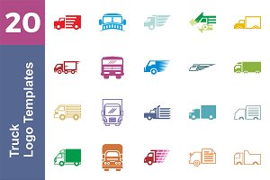 20 Logo Truck Templates Bundle