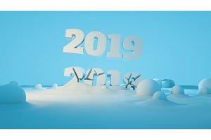 Happy new year 2019 swap 2018 broken
