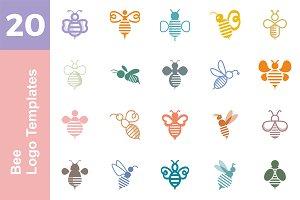 20 Logo Bee Templates Bundle