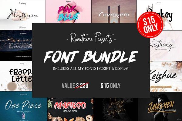 SALE 17 Fonts Bundle | Save 95%