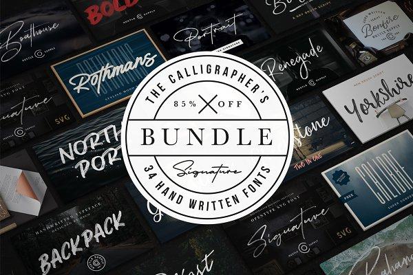 The Calligrapher's Font Bundle