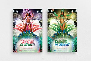 Carnival In Brazil Flyer Template