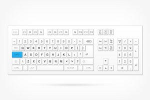 Full layout keyboard