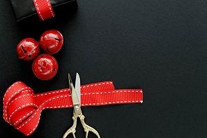 Black & Red Christmas Flatlay