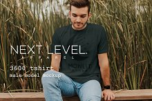 Mens TShirt Model Mockup: Next Level
