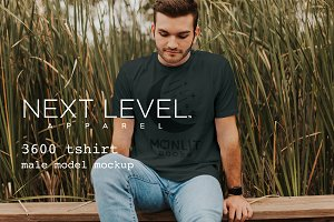 Mens TShirt Model Mockup: Next Level