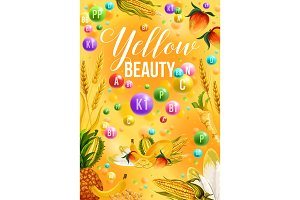 Diet color detox, yellow day
