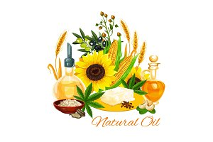 Oil of natural products plants seeds