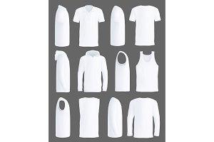 Shirts, sportswear apparel mockup