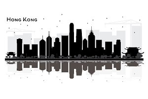 Hong Kong China City Skyline