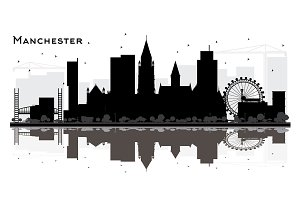 Manchester City Skyline Silhouette