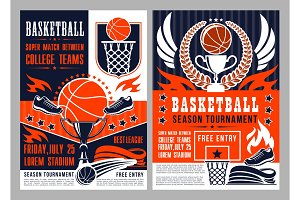 Basketball game announcement poster