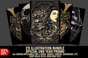 29 T-Shirt Design Bundle