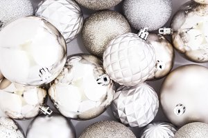 Champagne Gold Christmas Ornaments