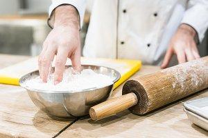 Male baker in chefs uniform