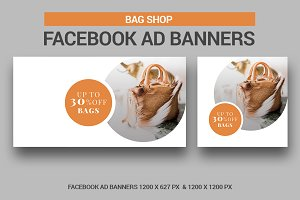 Bag Shop Facebook Ad Banners