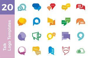 20 Logo Talk Templates Bundle