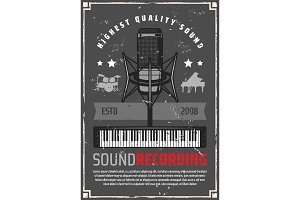 Sound recording poster, music