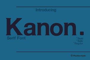 Kanon-Serif Font Family