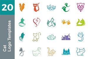 20 Logo Cat Templates Bundle