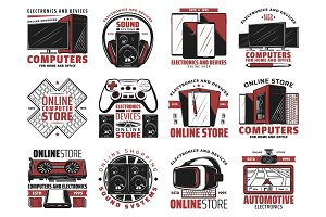 Technology store devices icons