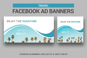 Travel Facebook Ad Banners