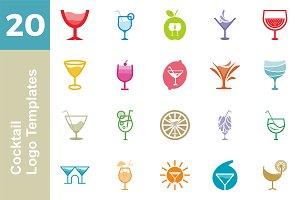 20 Logo Cocktail Templates Bundle