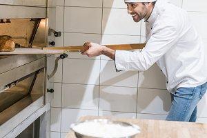 Baker in white chef uniform