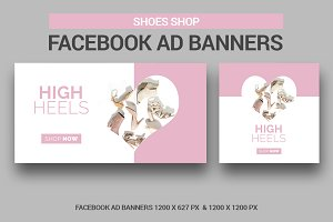 Shoes Shop Facebook Ad Banners