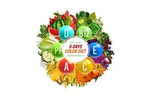 Vitamins, color diet detox nutrition