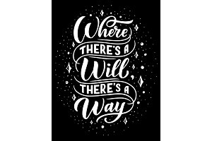 Where will there way, lettering