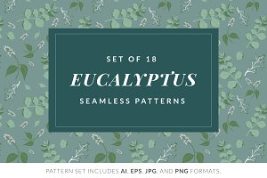 Green Eucalyptus Pattern Pack