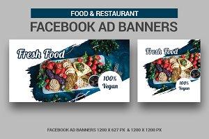 Food & Restauran Facebook Ad Banners