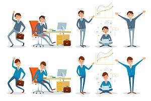 Business Office Worker Talking on
