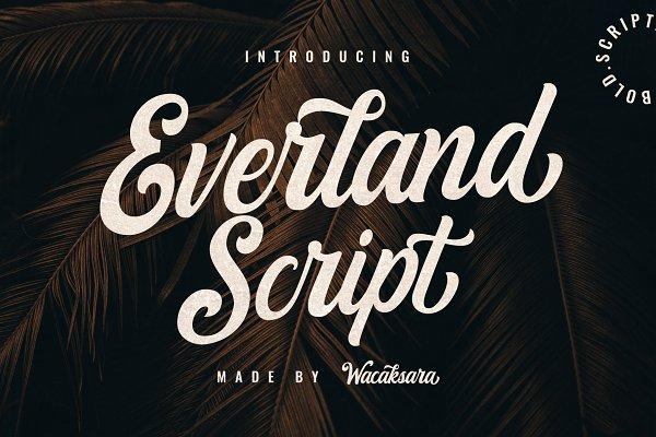 Script Fonts: Wacaksara Co. - Everland Script