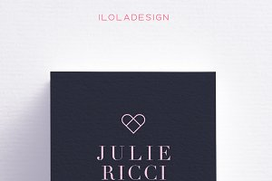 Blue Hearts Business Card
