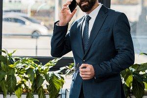 Handsome businessman during work