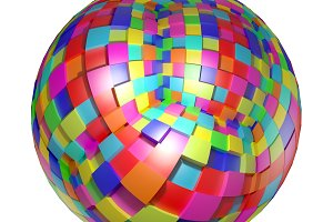 Abstract colored sphere