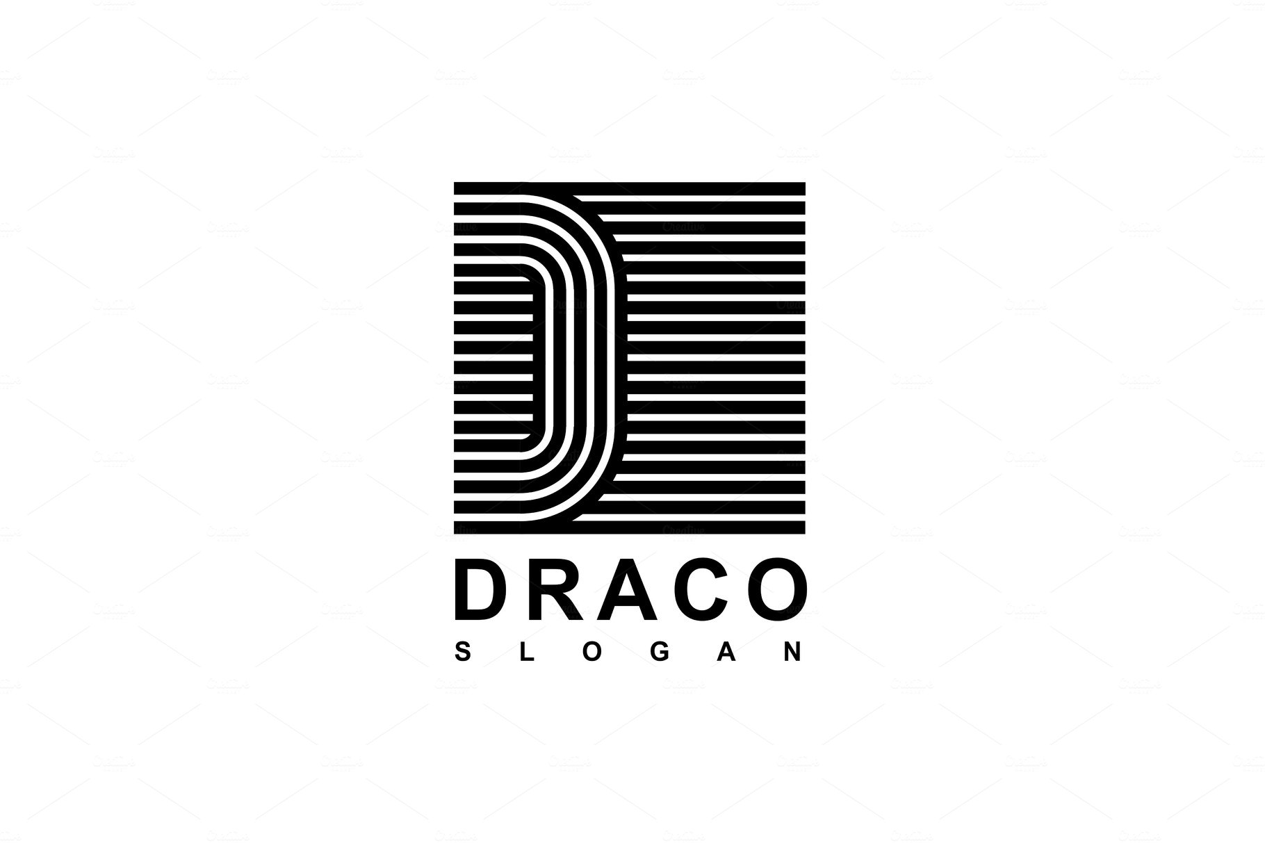 Logo Capital Letter D Illustrations Creative Market
