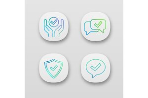 Approve app icons set